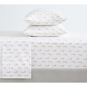 Pottery Barn Candy Cane Christmas Queen Sheet Set